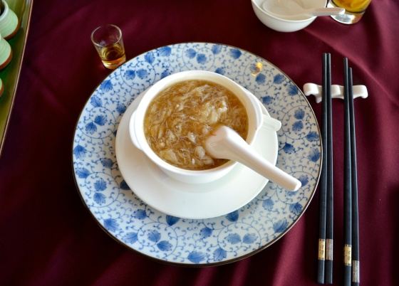 Braised shark's fin soup