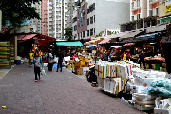 Wet market in Kowloon