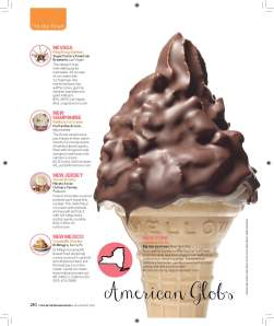 """American Globs featured in Food Network Magazine's """"50 States 50 Ice Cream Treats"""" article"""