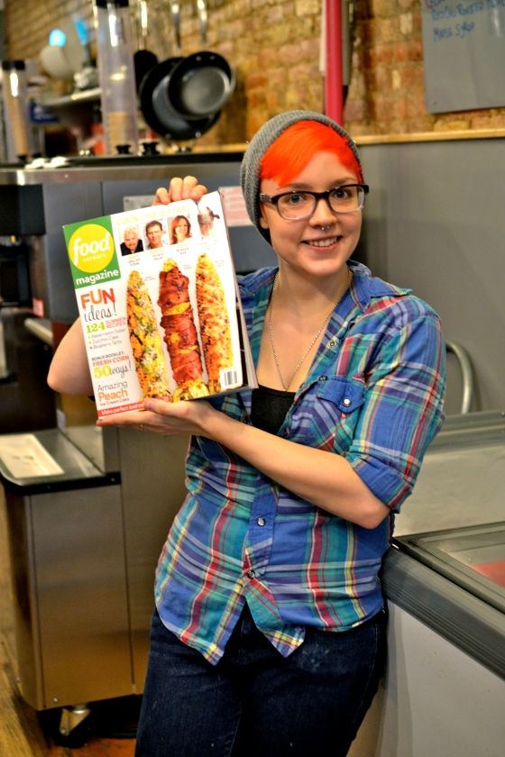 Oberlin with the July/August issue of Food Network Magazine
