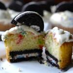 Birthday cake funfetti oreo cupcakes
