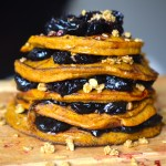 Pumpkin Cherry Pie Pancakes