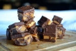 Nutella Peanut Butter Reese's Fudge Bars